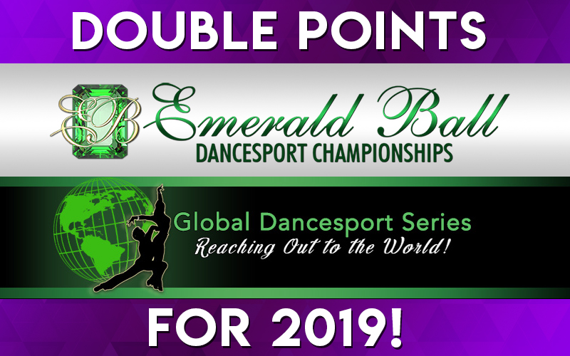 News - Earn DOUBLE POINTS at Emerald Ball for the Global Dancesport Circuit!